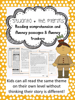 Squanto fluency and comprehension leveled passages