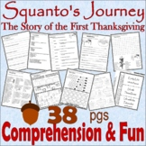 Squanto's Journey First Thanksgiving : Book Companion Reading Comprehension Unit