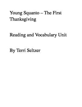 Squanto/Thanksgiving Comprehension/Vocabulary Unit
