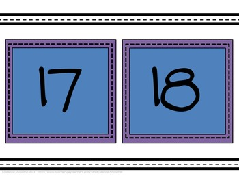Square Alphabet, Numbers, Days and Months