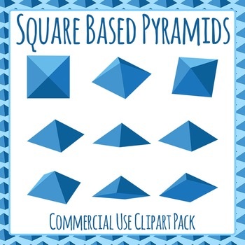 Square Based Pyramids Clip Art for Commercial Use