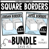 Square Borders Frames Bundle INTRO PRICE