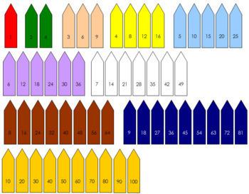 Square Chain Labels - Montessori
