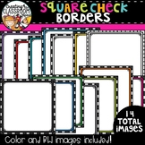 Square Check Borders Clipart  {TpT Sellers Clipart}