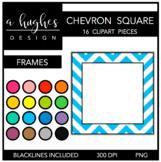 Square Chevron Frames Clipart {A Hughes Design}
