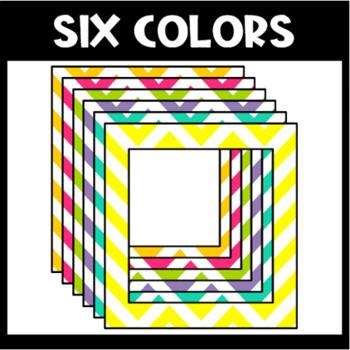 Square Chevron School Schedule Cards {Editable}