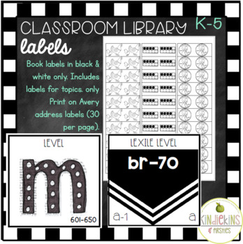 Classroom Library Labels: Square