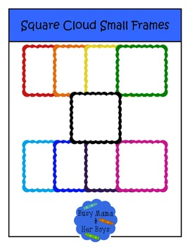 Square Cloud Small Frames