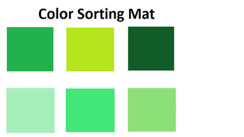 Square Color Matching File Folder Game