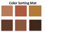 Square Color Matching File Folder Game