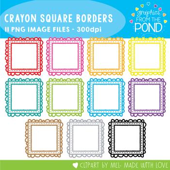 Square Crayon Frames