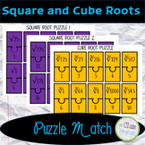 Square/Cube Root Puzzle Match Activity | Self-Checking | D