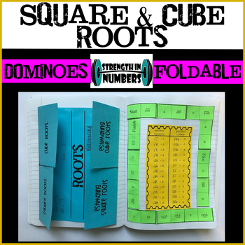 Square & Cube Roots/Estimating Foldable Notes and Dominoes Bundle INB