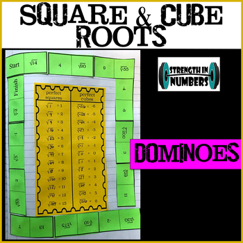 Square & Cube Roots/Estimating List & Dominoes Interactive Notebook