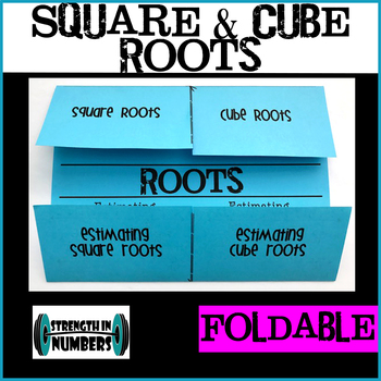 Square & Cube Roots/Estimating Foldable Notes Interactive Notebook