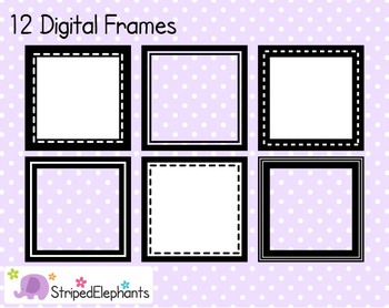 Square Digital Frame Collection 1