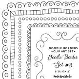 Doodle Border Set #3 - Square