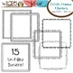 Square Doodle Frames & Borders Set: Graphics for Teachers