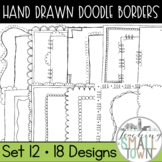 Square Doodle Frames // Personal and Commercial Use // Set 12
