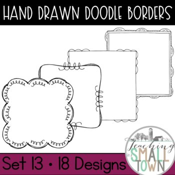 Square Doodle Frames [Set 2] 70 Frames for Commercial Use