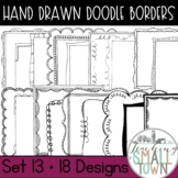 Square Doodle Frames // Personal and Commercial Use // Set #13