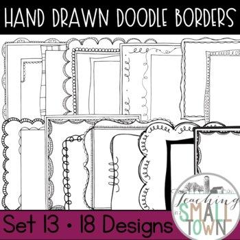 Square Doodle Frames [Set 2] 70 Frames for Commercial Use
