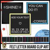 Square Felt Letter Boards Clip Art | Black Felt | ADD YOUR