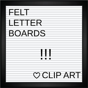 Square Felt Letter Boards Clip Art | White Felt | ADD YOUR OWN TEXT (editable)