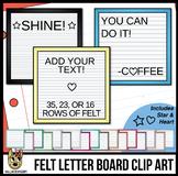 Square Felt Letter Boards Clip Art | White Felt | ADD YOUR