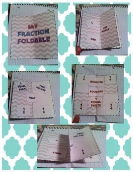 Square Fraction Foldable