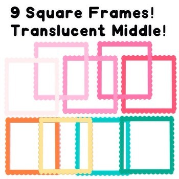 Square Frames-Commercial Use!