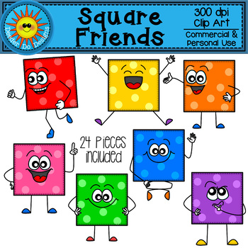 Square Friends Clip Art