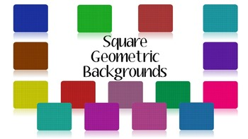Square Geometric Backgrounds