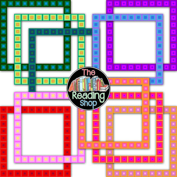 Square Geometric Frames - Filled and Unfilled