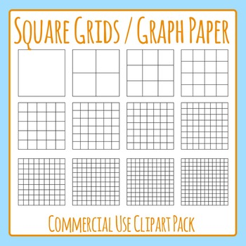 square grid graph paper commercial use clip art pack by hidesy s