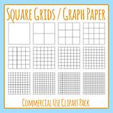 Square Grid / Graph Paper Simple Square Math Template Grap