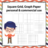 Square Grid / Graph Paper , Personal & Commercial Use Clip Art