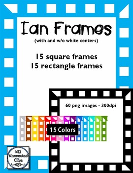 Ian Frames - Squares and Rectangles - 15 Colors!