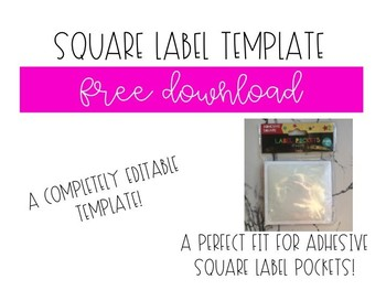 square label template by the sparkling class teachers pay teachers
