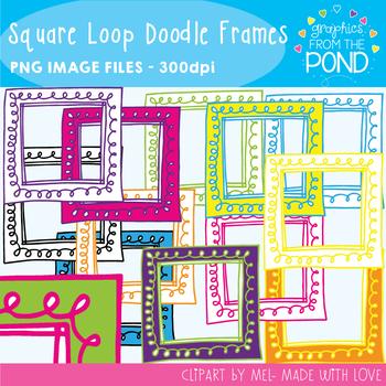 Square Loop Doodle Frames