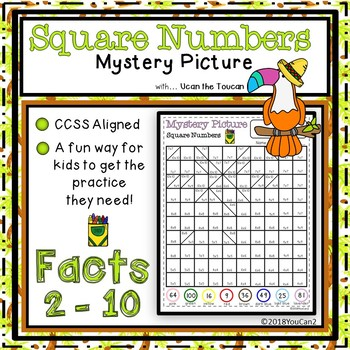 Square Number Mystery Picture