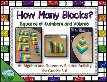 Square Number Patterns and Volume Activity