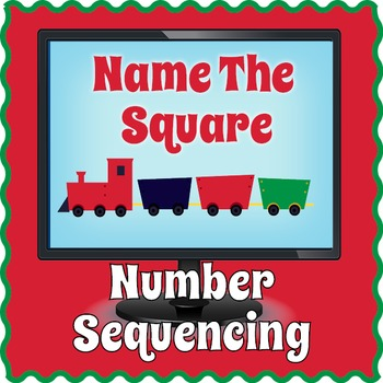 Smartboard Square Number Sequencing Game
