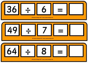 Square Numbers Cards