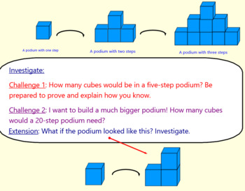 Square Numbers Investigation to explain Mathematical thinking