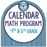 Calendar Math for 4th and 5th Grade