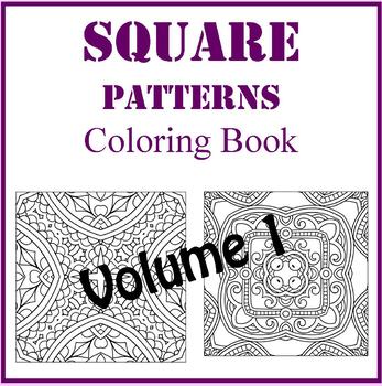 Square Zentangle Designs Coloring Book, Volume 1