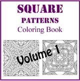 Square Zentangle Designs Coloring Book, Volume 1