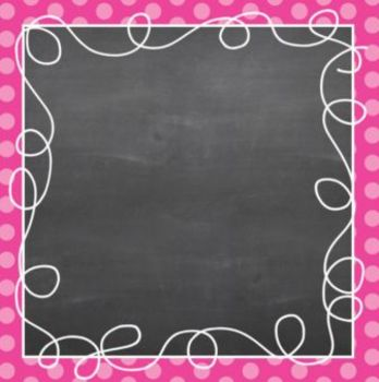 Square {Polka Dot Chalk} Doodle Border Frames - Personal & Commercial Use