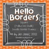 Square {Polka Dot Chalk} Doodle Border Frames - Personal & Commercial Use